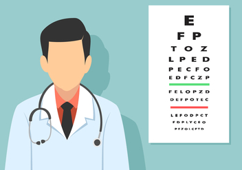 Alphabet Eye Test Free Vector - Free vector #445855