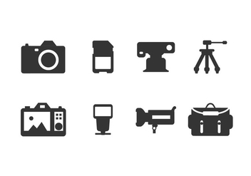 Photography Tool Icons - vector #445865 gratis