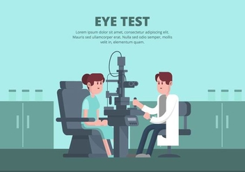 Eye Test Illustration - Kostenloses vector #445875
