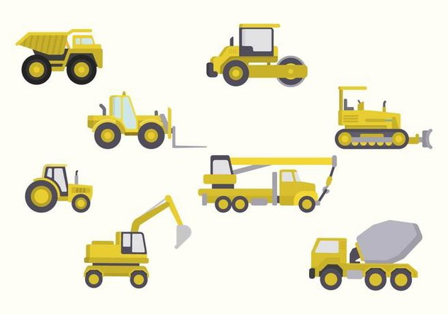 Flat Constructions Machine Vectors - vector #445885 gratis