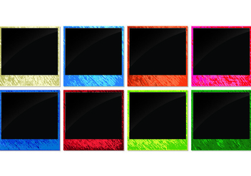 Bright Neon Photo Edges Vectors - Free vector #445995