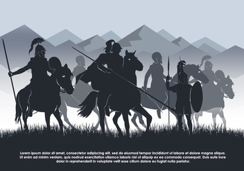 Cavalry Vector Background Illustration - Free vector #446045