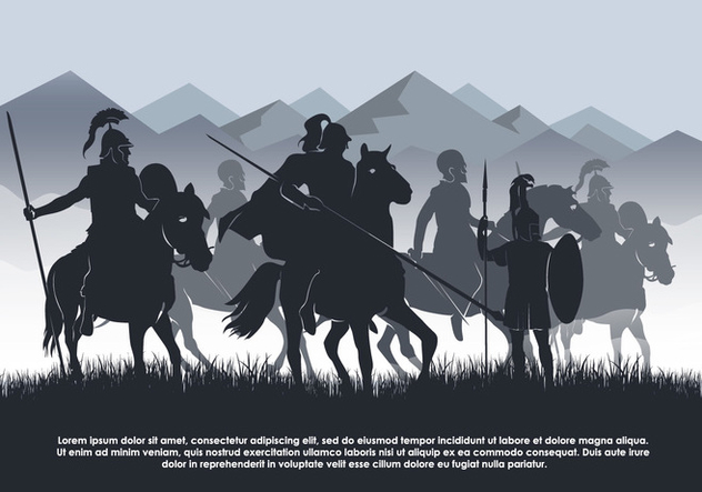 Cavalry Vector Background Illustration - бесплатный vector #446045