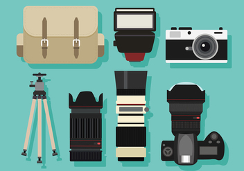 Photography Set Free Vector - vector gratuit #446055