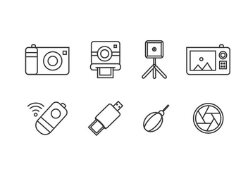 Photography tool icons - vector #446065 gratis