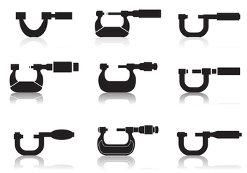 Micrometer Icon set - Free vector #446075
