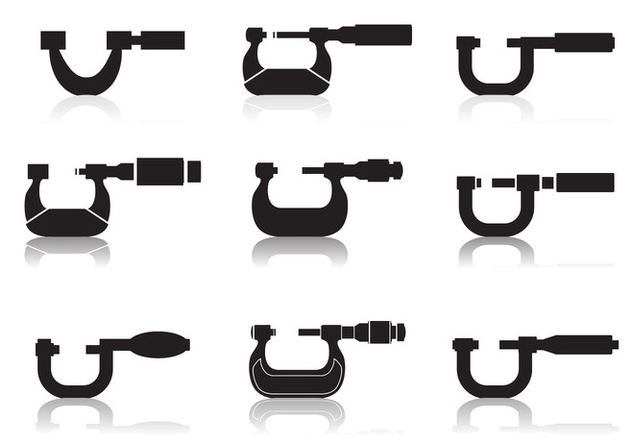Micrometer Icon set - vector #446075 gratis