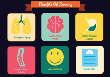 Running Benefits Vector Pack - Kostenloses vector #446275