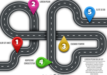 Vector Road Map - Kostenloses vector #446295