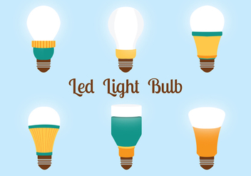 Led Lights Bulbs Vector Pack - бесплатный vector #446305