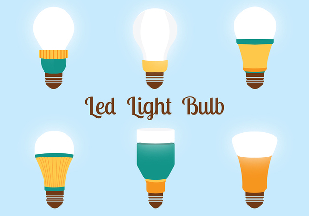 Led Lights Bulbs Vector Pack - vector gratuit #446305