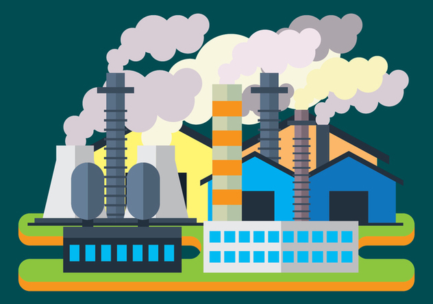 Smoke Stack Illustration - vector #446315 gratis