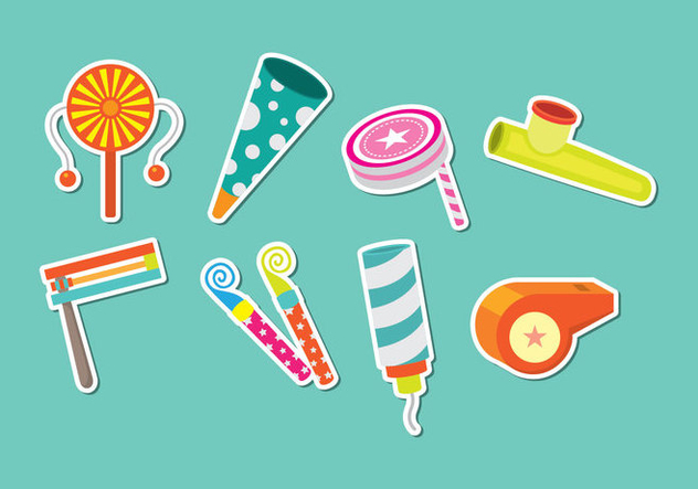 Noise Maker Icons - vector #446335 gratis