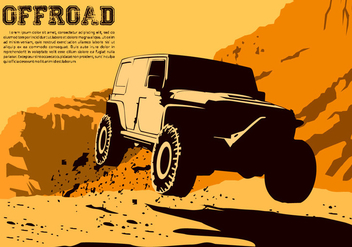 Jumping Offroad Free Vector - Free vector #446365