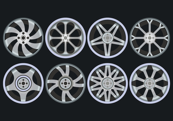 Alloy Wheels Icons Set - бесплатный vector #446375