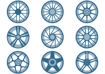 Car Rims - vector gratuit #446385