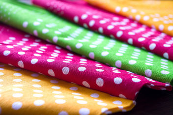 Polka Dot Colourful Fabrics - Free image #448135