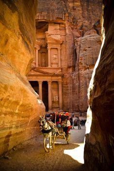 Bedouin carriage in Siq passage to Petra - Kostenloses image #449585