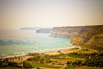 Beautiful landscape with rocky coast, Cyprus - бесплатный image #449595