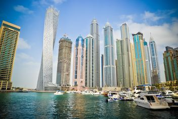 Modern buildings in Dubai Marina - бесплатный image #449615