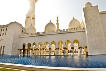 Sheikh Zayed Grand Mosque in Abu Dhabi, United Arab Emirates - Free image #449625