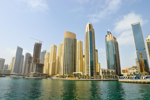 Modern buildings in Dubai Marina - бесплатный image #449635