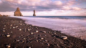The black sand beach - Iceland - Travel photography - бесплатный image #449705