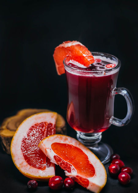 Hot Grapefruit And Cranberry Drink - image gratuit #450335
