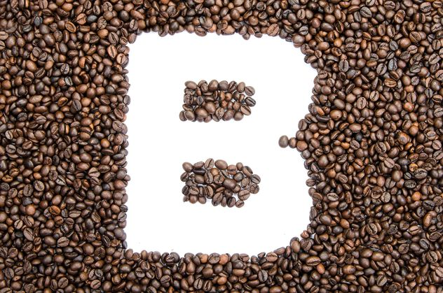 Alphabet of coffee beans - image gratuit #451885