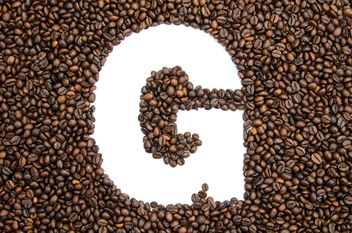 Alphabet of coffee beans - image #451895 gratis