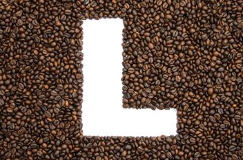 Alphabet of coffee beans - image gratuit #451905