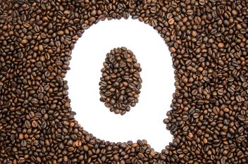 Alphabet of coffee beans - image gratuit #451915