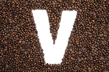 Alphabet of coffee beans - image gratuit #451925