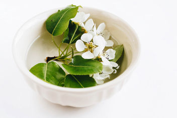 Spring flowers in a cup with water. Table decoration - image gratuit #453435