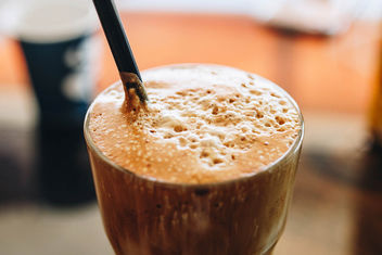 Close up of white frappe in a glass. Summer drink - бесплатный image #453685