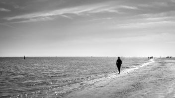 On the beach - Malahide, Dublin - Black and white street photography - image gratuit #454935