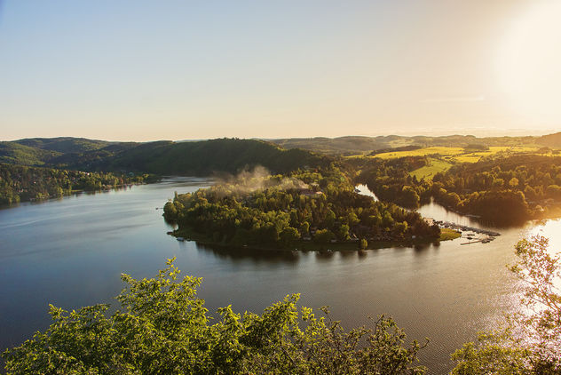 Panorama of lake Slapy near Prague on river Vltava - бесплатный image #455895