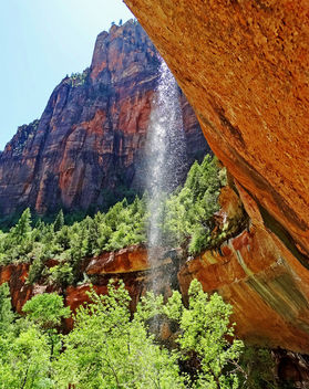 Water for the Cottonwoods, Emerald Pools, Zion NP 2014 - Kostenloses image #457175