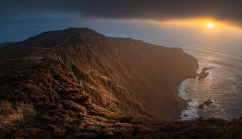 Sunset on Slieve League - Donegal, Ireland - Seascape photography - бесплатный image #457445