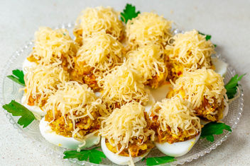 Stuffed-eggs-with-cheese.jpg - image #457615 gratis