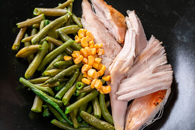 Chicken-fillet-with-asparagus-beans-and-corn.jpg - image #460765 gratis