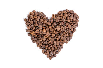 Raw-Coffee-Heart-shape-above-white-background.jpg - Free image #462305
