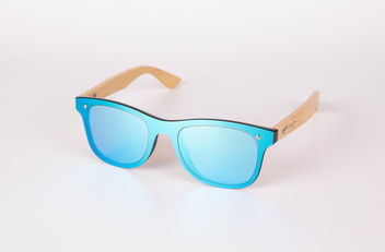 Wooden sunglasses on white background.jpg - Free image #462375