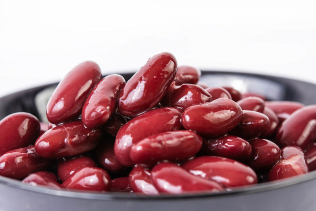 Closeup of Red Kidney Beans in the bowl (Flip 2019) - image gratuit #463995
